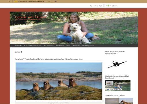 """Blog """"Mein tierischer Freund"""" / Rasseportrait """"Briard""""."""